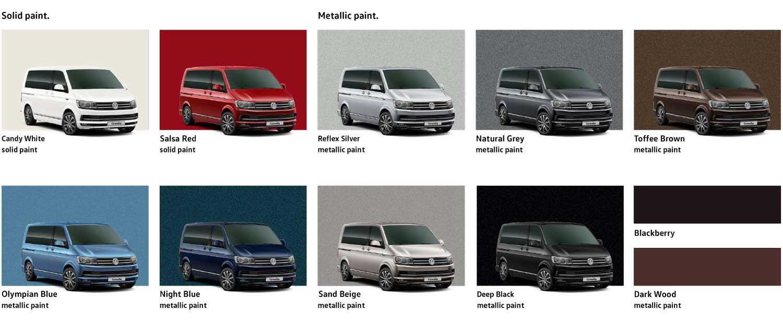 Volkswagen Caravelle colours